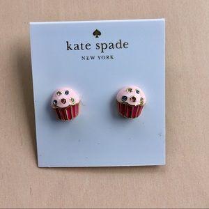 Kate Spade cupcake stud earrings